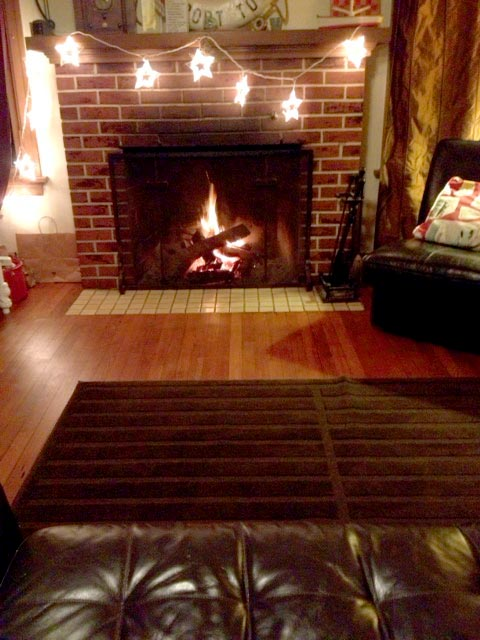 Cozy fire perfect for couples on a romantic holiday.
